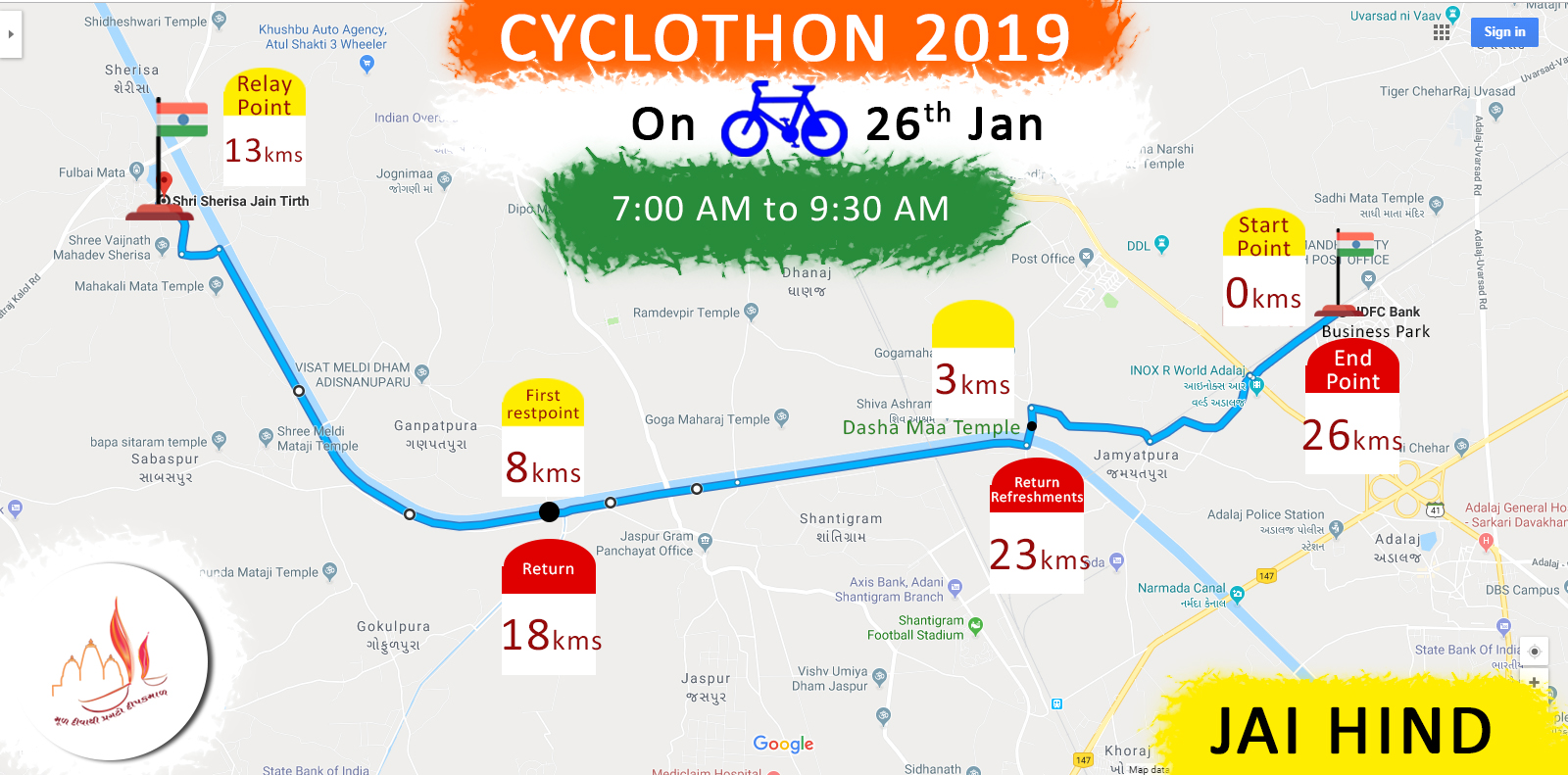 0 GNC Cyclothon 2019 Map Guide