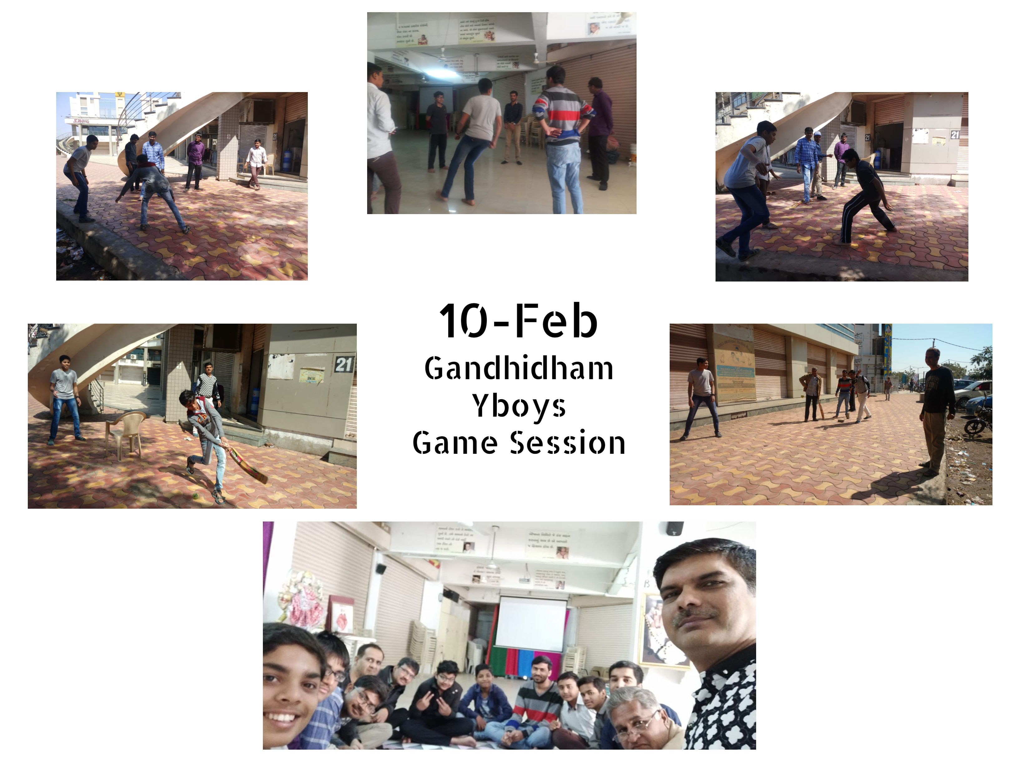 10Feb Gandhidham Gamesession Collage